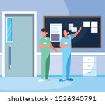 male medicine workers with... | Shutterstock .eps vector #1526340791