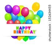 colorful vector balloons  ... | Shutterstock .eps vector #152634455