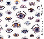 eyes abstract pattern hand...   Shutterstock .eps vector #1526349761