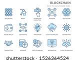 set of blockchain technology... | Shutterstock .eps vector #1526364524