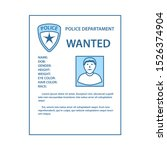 wanted poster icon. thin line...