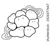 doodle liquid character black... | Shutterstock .eps vector #1526377667