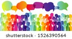 speech bubble. dialogue large... | Shutterstock . vector #1526390564