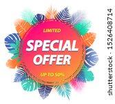 special offer label design for... | Shutterstock .eps vector #1526408714