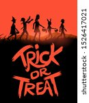 a group of children trick or... | Shutterstock .eps vector #1526417021