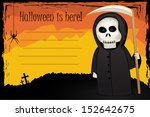 halloween card with death with... | Shutterstock .eps vector #152642675