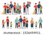 cartoon family portraits. happy ... | Shutterstock .eps vector #1526454911
