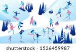 winter isometric people set  3d ... | Shutterstock .eps vector #1526459987