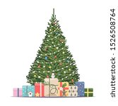 christmas tree with decorations ... | Shutterstock .eps vector #1526508764