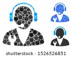 support manager mosaic for...   Shutterstock .eps vector #1526526851