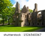 Small photo of Kirkwall, Orkney, Scoland, the ruins of the Bishop's and Earl's palace
