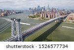 Aerial View Over The East River ...
