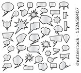 speech bubble set | Shutterstock .eps vector #152658407