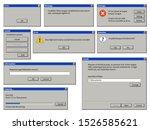 old user interface window.... | Shutterstock .eps vector #1526585621