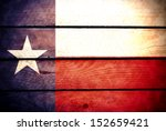 wood texas flag | Shutterstock . vector #152659421