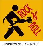 icon man playing guitar  rock...