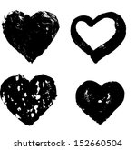 heart silhouette vector... | Shutterstock .eps vector #152660504