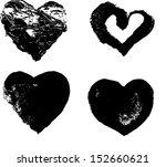 heart silhouette vector... | Shutterstock .eps vector #152660621