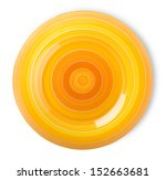Orange Plate Isolated On A...