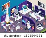 modern museum astronomical... | Shutterstock .eps vector #1526644331