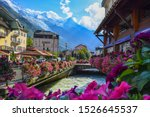 Chamonix  France. View Of The ...