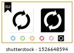 reset button icon flat design