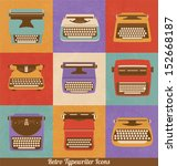 retro style typewriter icons  ... | Shutterstock .eps vector #152668187