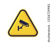 Cctv Warning Sign Isolated On...