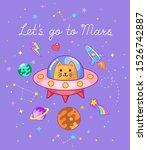 let's go to mars text. ginger... | Shutterstock .eps vector #1526742887
