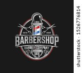 barbershop logo vintage classic ... | Shutterstock .eps vector #1526776814