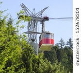 Aerial Ropeway Cabin Going...