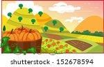 pumpkin field   an illustration ...   Shutterstock .eps vector #152678594
