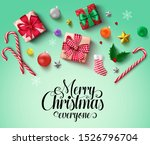 christmas elements vector... | Shutterstock .eps vector #1526796704
