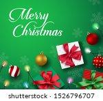 christmas greeting vector... | Shutterstock .eps vector #1526796707