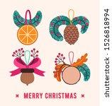 natural christmas tree...   Shutterstock .eps vector #1526818994