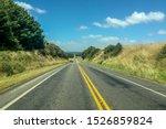 Empty Highway Through Rural...