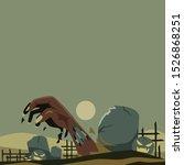 halloween poster design. zombie ... | Shutterstock .eps vector #1526868251