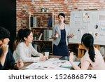 pregnant business consultant...   Shutterstock . vector #1526868794