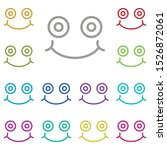 grinning  face multi color icon....