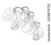 engine pistons outline. vector... | Shutterstock .eps vector #1526874731