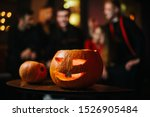 Halloween Carved Pumpkin On The ...