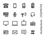 communication icons | Shutterstock .eps vector #152690765