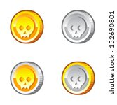 coins with skull