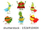 cute animated fruits in... | Shutterstock .eps vector #1526910404