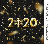 realistic golden numbers 2020... | Shutterstock .eps vector #1526921417