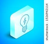 isometric line light bulb with...   Shutterstock .eps vector #1526942114