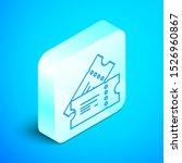 isometric line cinema ticket... | Shutterstock .eps vector #1526960867