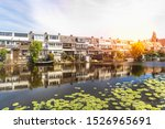 one of the streets in rotterdam ... | Shutterstock . vector #1526965691