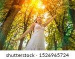 young woman is enjoying... | Shutterstock . vector #1526965724