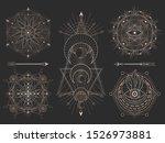 vector set of sacred geometric...   Shutterstock .eps vector #1526973881